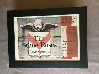 Stone Roses Love Spreads Framed  A4 Advert • 27.50£