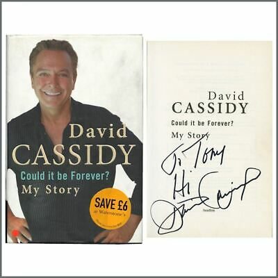 David Cassidy Autographed 2007 Could It Be Forever? My Story Hardback Book (UK) • 165£