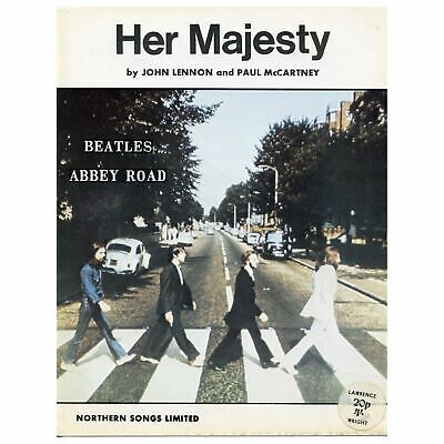 The Beatles 1969 Her Majesty Northern Songs UK Sheet Music • 45£