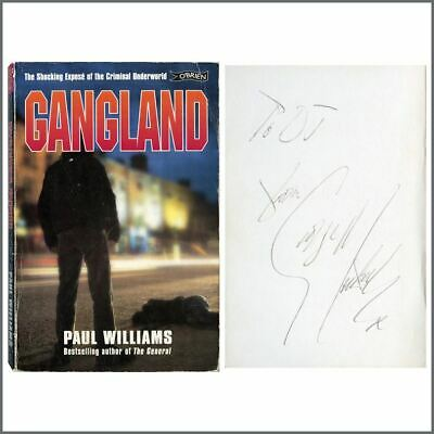 George Michael Autographed 1998 Gangland Paul Williams Book (UK) • 655£