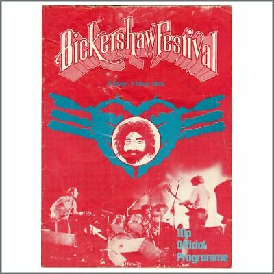 Grateful Dead / The Kinks / Hawkwind 1972 Bickershaw Festival Programme (UK) • 110£