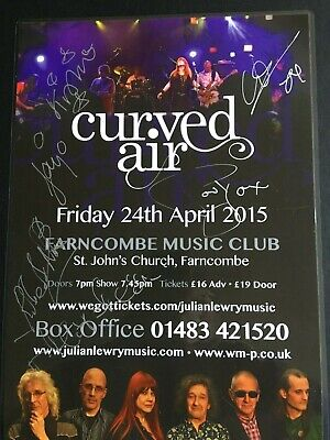 CURVED AIR - SIGNED Gig Poster • 11£