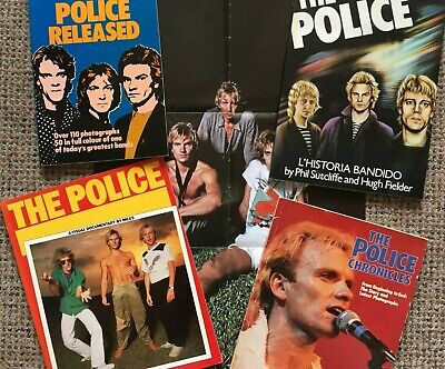 THE POLICE - Book Collection + Poster (some Rare) • 25£