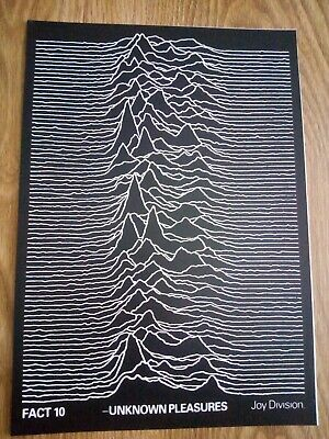 Joy Division Fact 10 'Unknown Pleasures' A3 Music Poster Repro / Reprint *RARE* • 8.99£
