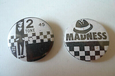 2x MADNESS / TWO TONE Original Vintage Metal Badges 1.5  Button Pin • 5.99£