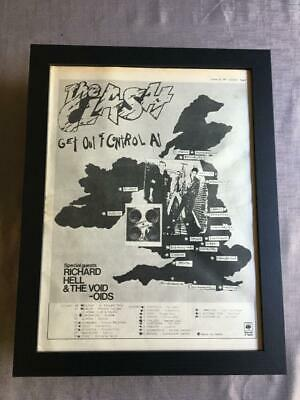 The Clash Get Out Of Control UK Tour 1977 Framed Advert / Ad  18  X 14  • 60£