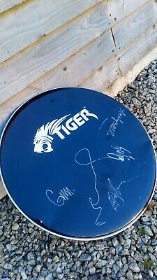 22  DRUMHEAD SIGNED BY OASIS AUTOGRAPHED BY NOEL Liam Andy Gem Zak • 0.99£