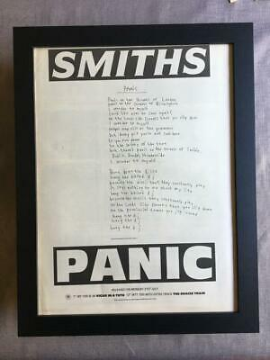 The Smiths Panic 1986  Framed Advert / Ad  18  X 14  • 55£