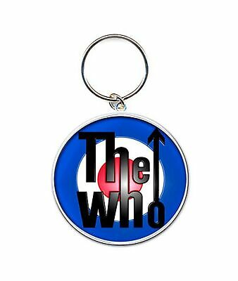 The Who Keyring Keychain Mod Target Band Logo Official New Silver One Size • 4.25£