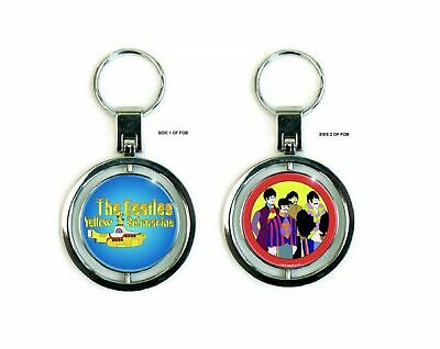 The Beatles Keyring Keychain Yellow Submarine New Official Metal Spinner • 5.95£