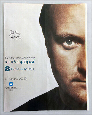 Phil Collins Both Sides Album Release 1993 Full Page Greek Print Ad Everyday • 3.99£