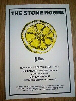 The Stone Roses 'She Bangs The Drums' Promo Music Poster A4 Repro / Print • 4.99£