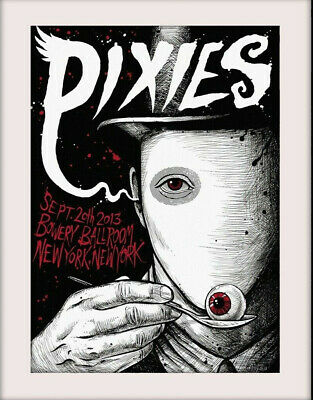 PIXIES Bowery Ballroom 20  X 16  Vintage Style Mounted Poster Print NEW Ref29 • 9.99£