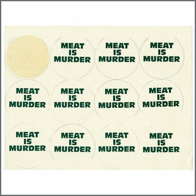The Smiths 1985 Meat Is Murder Promotional Stickers Geoff Travis Archive (UK) • 165£