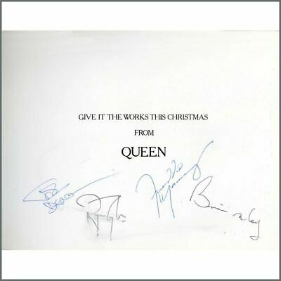 Queen 1984 Autographed Works Tour Christmas Card (UK) • 4,345£