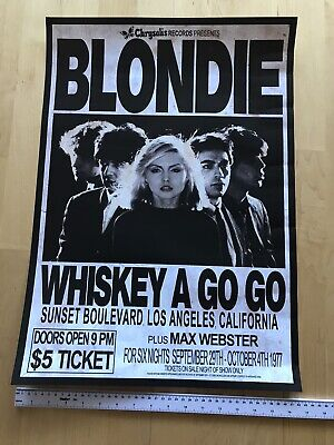 Blondie 1977 Tour Poster Print - Approx A2 Size • 9.99£
