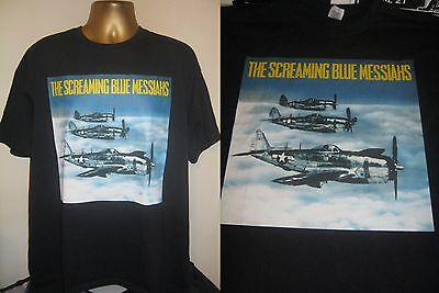 The Screaming Blue Messiahs-good And Gone Sleeve Art Print T Shirt Black- Large  • 13.99£