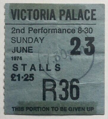 Steve Harley Original Used Concert Victoria Palace Theatre London 23rd June 1974 • 8£