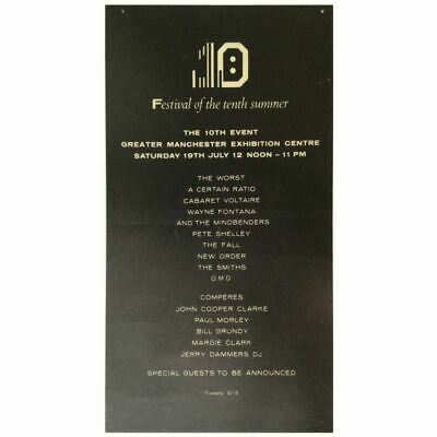 New Order / The Smiths Festival Of The Tenth Summer Concert Poster (UK) • 765£