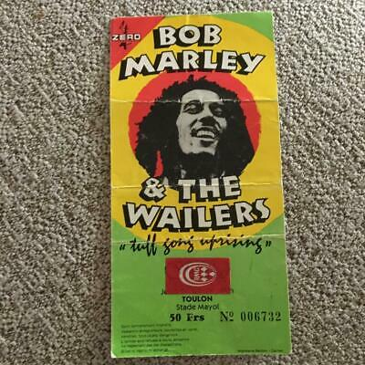 Bob Marley & The Wailers  Ticket Toulon  26/06/80 • 150£