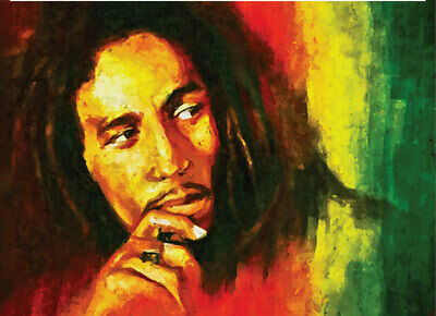 BOB MARLEY PRINT COLLECTORS ITEM HANDPAINTED LIMITED EDITION #1 Of 50 CANVAS  • 39.99£