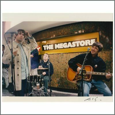 Oasis 95 (What's The Story) Morning Glory? Launch Virgin Megastore Signed Photo • 85£