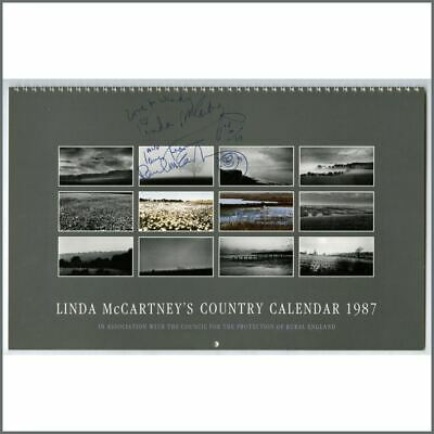 Paul And Linda McCartney Signed Calendar (UK) • 985£