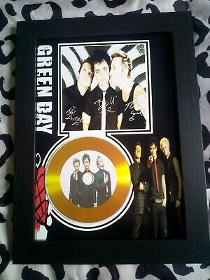 Green Day A4 CD Picture Disc Montage In Black Frame *NEW* • 16.99£