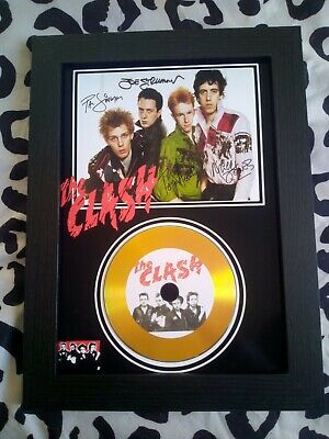 The Clash A4 CD Picture Disc Montage In Black Frame *NEW* • 16.99£