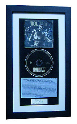 VOLBEAT Seal The Deal & Boogie CLASSIC CD Album QUALITY FRAMED+FAST GLOBAL SHIP • 44.95£