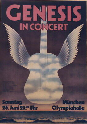 Genesis Concert Tour Poster 1977 Wind & Wuthering • 56.25£