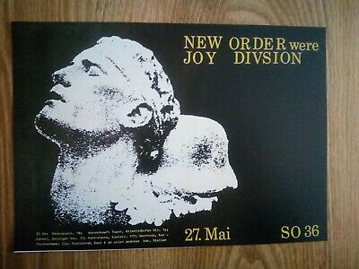New Order Were Joy Division Promotional Music Poster A4 Repro / Print *RARE* • 4.99£