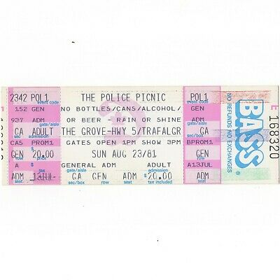 THE POLICE KILLING JOKE GOGOs IGGY POP Concert Ticket Stub 1981 OAKVILLE CANADA • 44.44£