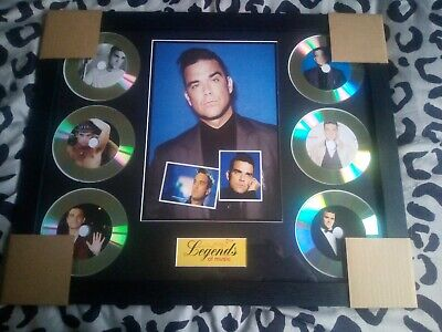 Robbie Williams 6 X CD Picture Disc Montage In Black Frame *NEW* • 44.99£