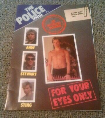 The Police - For Your Eyes Only : An Intimate Dossier Hot Shot Music Mag Sting • 16.99£