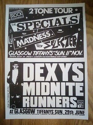 Ska / Two Tone, The Specials, Madness Promotional Poster Repro/Reprint A4 Print  • 4.99£
