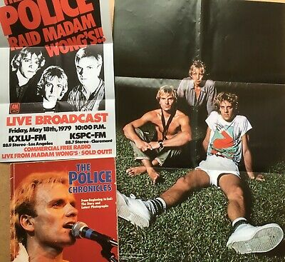 THE POLICE - Posters & The Police Chronicles Book • 5£