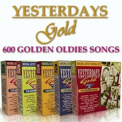Yesterdays Gold 50-60-70's (25cd Collection) 2.2gb - 1dvd • 7£