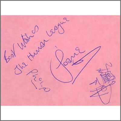 The Human League Signatures On Autograph Book Page (UK) • 110£