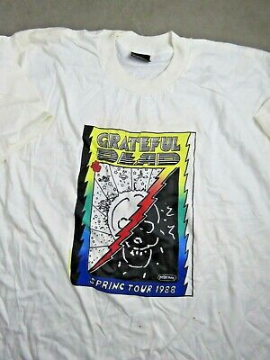 @       Peter Max Grateful Dead Tee Shirt 1988 Spring Tour Vintage XL Cotton • 27.41£