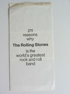 211 Reasons Why  The Rolling Stones  1971 U.k. 6  Page  Flyer  Record Catalogue • 19.99£