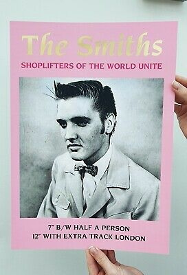 The Smiths Shoplifters Unite Poster GOLD FOIL • 9.99£