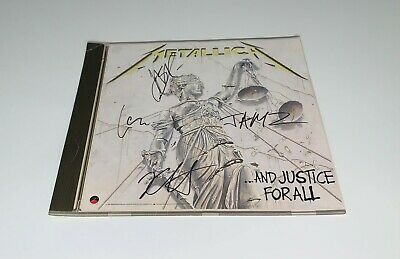 Metallica And Justice For All Promo Signed X4 James Hetfield Kirk Lars & Newsted • 357.62£