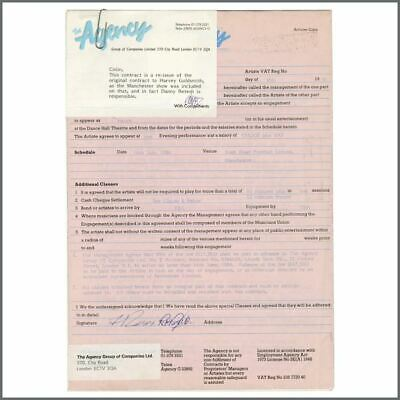 Status Quo Rick Parfitt & Rossi Signed 1986 Manchester Performance Contract (UK) • 137.50£
