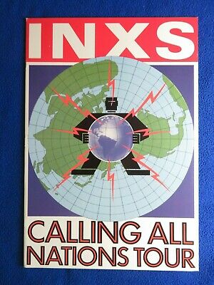 Inxs  Calling All Nations Tour  Book  Hard To Find • 17.16£