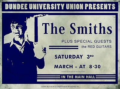 The Smiths Dundee University Gig Promotional Poster A4 Repro/Reprint • 5.99£