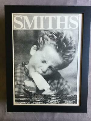 The Smiths Queen Is Dead UK Tour October 1986  Framed Advert / Ad  18  X 14  • 55£