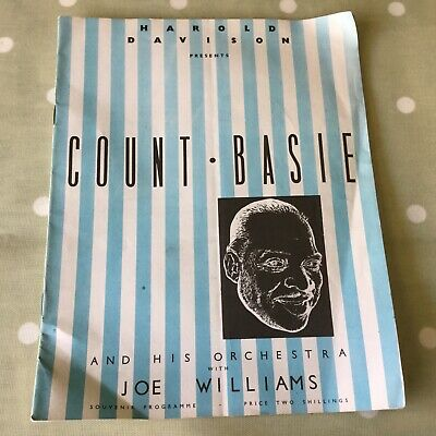 COUNT BASIE Free Trade Hall Manchester 1960 - Programme And Ticket • 19.95£
