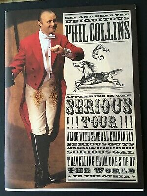 PHIL COLLINS - SERIOUS WORLD TOUR 1990 - Programme • 5£