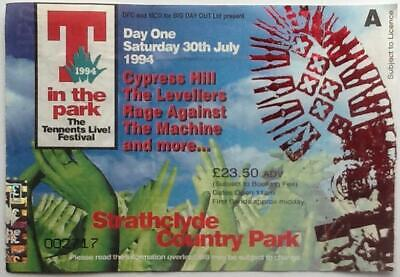 Blur Pulp Original Concert Ticket T In The Park Strathclyde 30th July 1994 • 8£